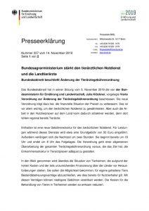 thumbnail of BMEL-Aenderung der Tierärztegebührenordnung-1